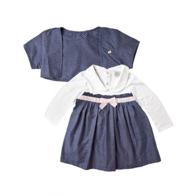 Vestido Infantil Feminino Poa Azul Zig Mundi ZM0114*