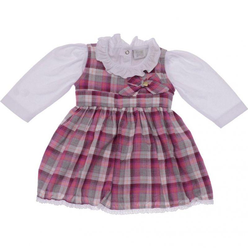 Vestido Infantil Feminino Xadrez Zig Mundi ZM0118*
