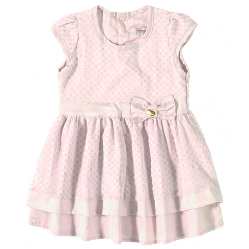 Vestido Infantil Menina Manga Curta Carinhoso 62.864