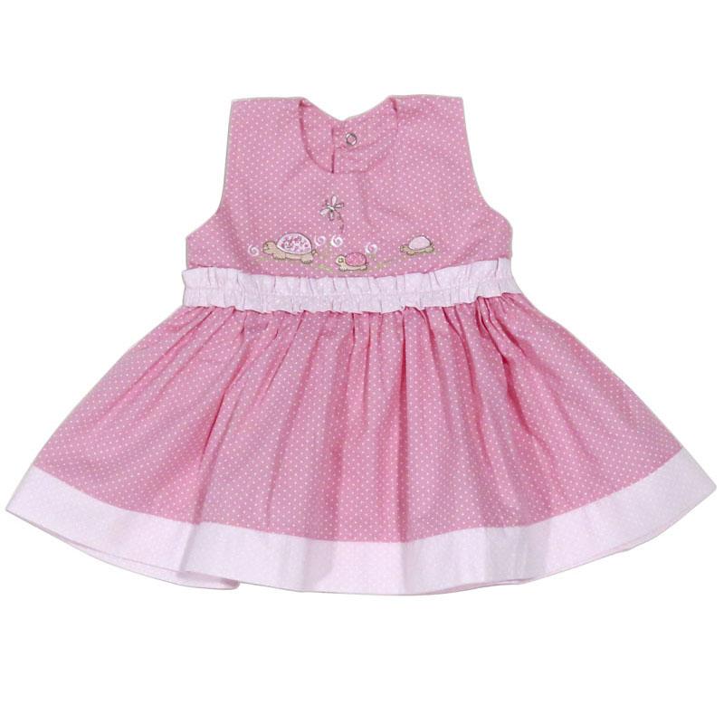 Vestido Infantil Menina Poa Verão Ki-Baby KB448