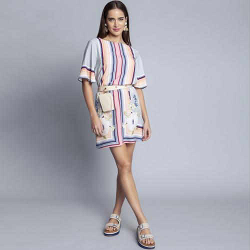 Vestido Tecido Rayon Bali Curto Gode Lez a Lez 2485