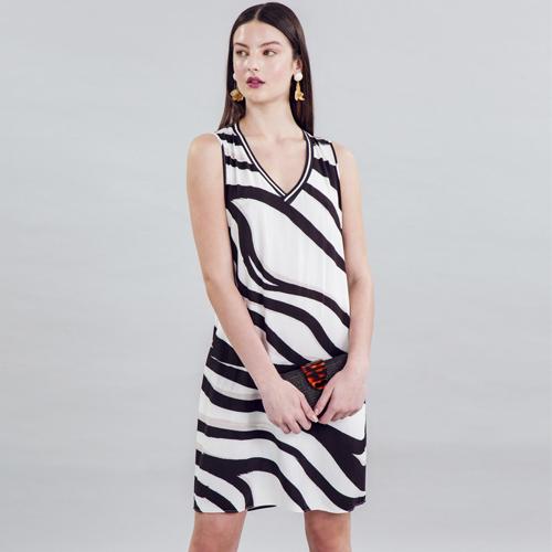 Vestido Tecido Rayon Bali Curto Raiz Lez a Lez 2510
