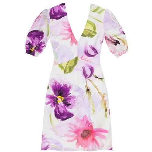 Vestido Tecido Rayon Bali Midi Amor-perfeito Lez a Lez 2353L