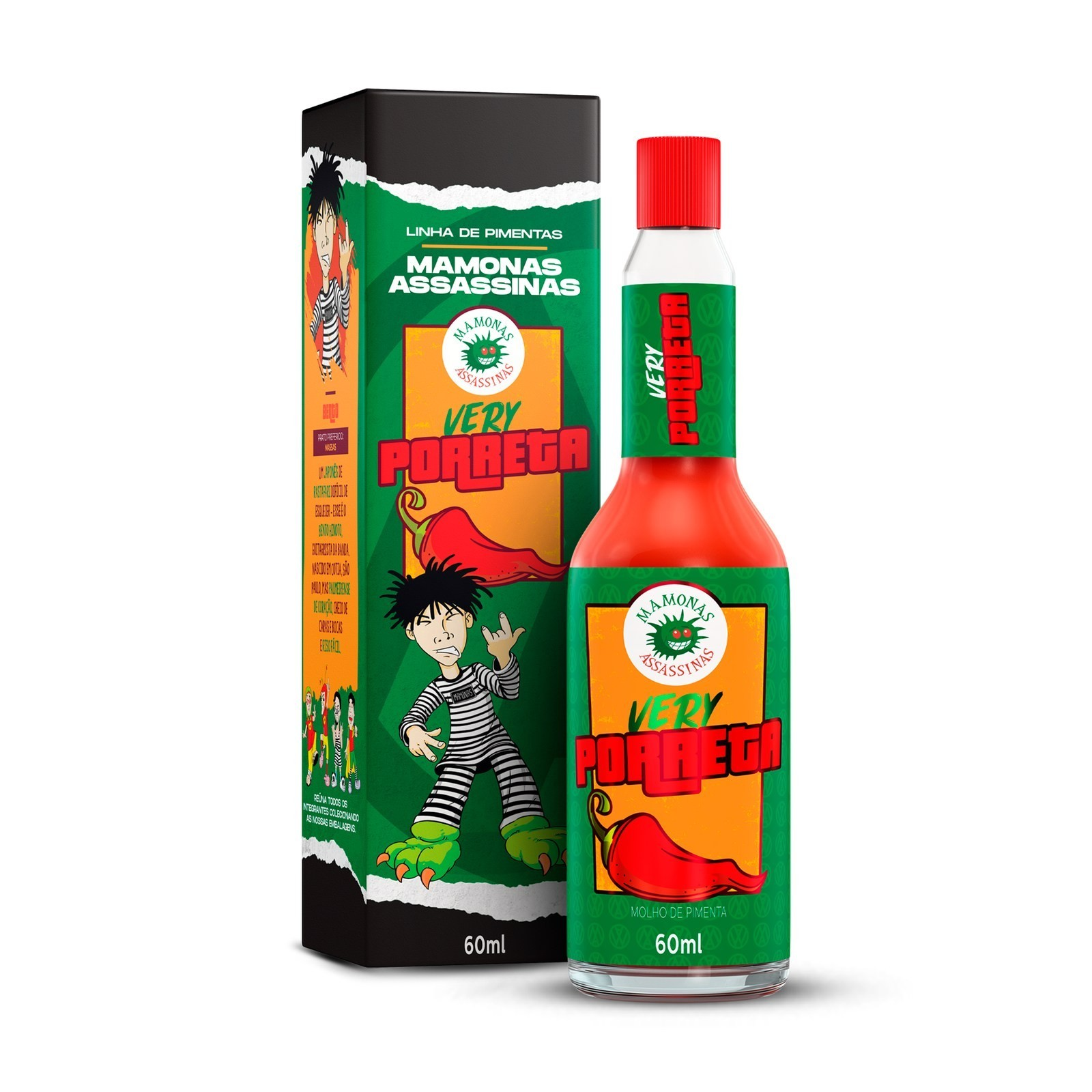 Molho de Pimenta Mamonas Assassinas - Very Porreta 60 ml (Bento)