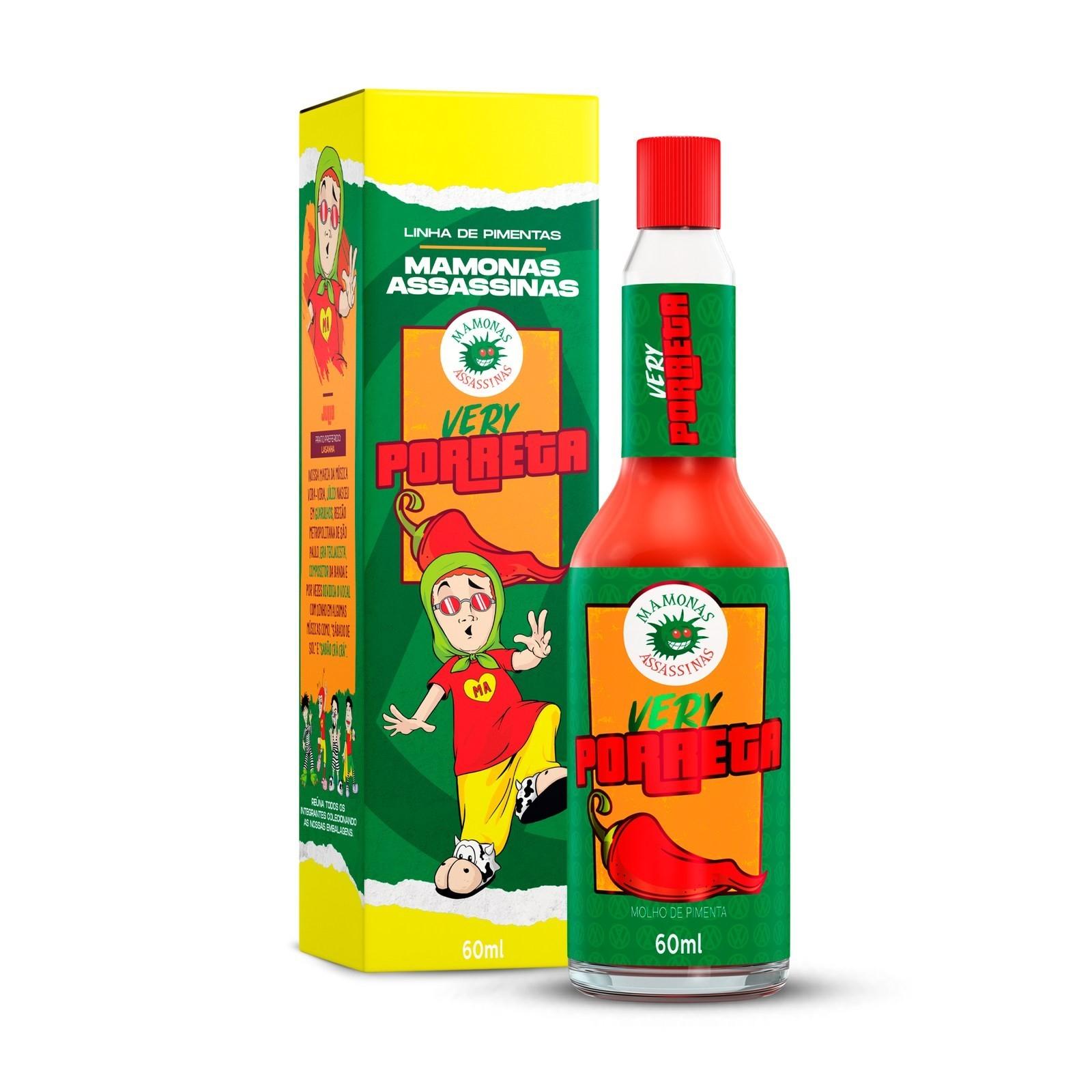 Molho de Pimenta Mamonas Assassinas - Very Porreta 60 ml (JÚLIO)