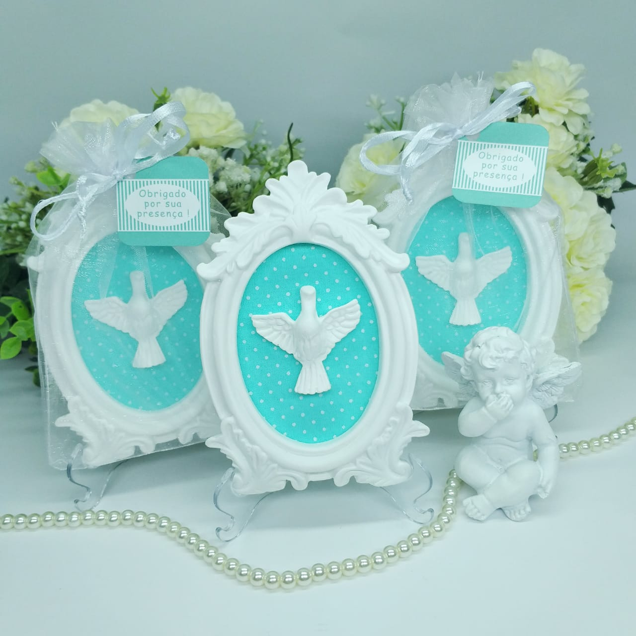 Kit 10 Lembrancinha Batizado Divino Espirito P Maternidade
