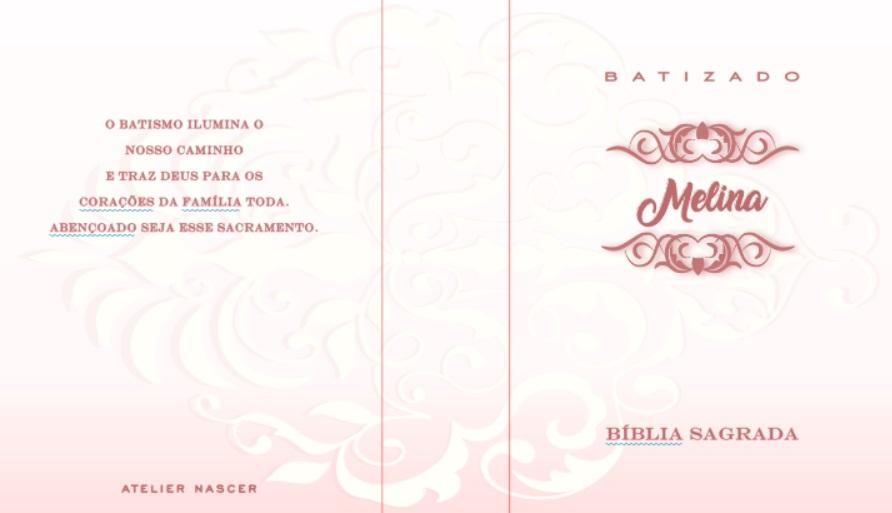 Kit Bíblia Personalizada e Quadro Personalizado Lembrança Para Batizado Convidados e Padrinhos Pronta Entrega
