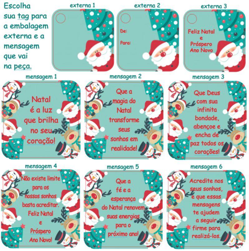 Lembrança de Natal Chaveiro de Preciosas Promessas Mensagens Bíblicas