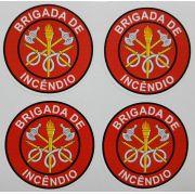 Adesivo plastificado, emblema Brigada de Incêndio (pack com 4 unidades)