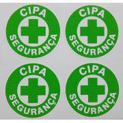 Adesivo plastificado, emblema CIPA Segurança (pack com 4 unidades)