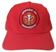 Boné de Brim, modelo Brigada de Emergência, bordado em cores
