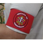 Braçadeira de Brim, modelo Brigada de Emergência, bordada em cores