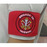 Braçadeira de Brim, modelo Brigada de Incêndio, bordada em cores