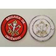 Patch bordado termocolante, Brigada de Incêndio ou CIPA, 7cm