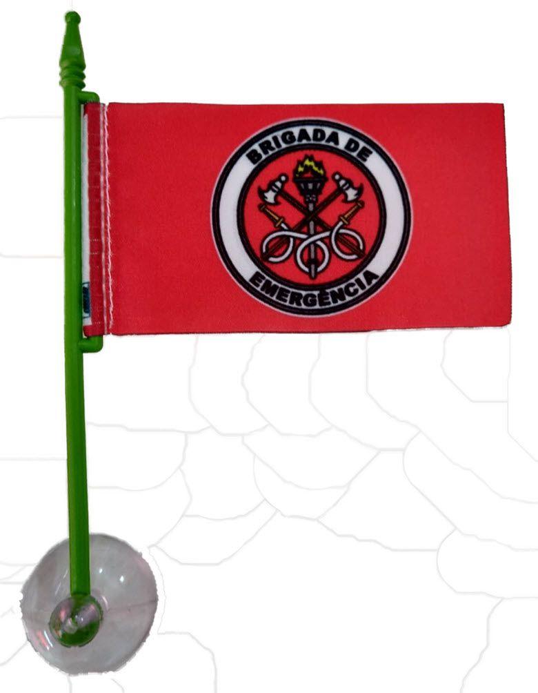 Bandeirinha Brigada de Emergência, com ventosa  - CONEXÃO EPI´S E UNIFORMES PROFISSIONAIS