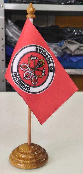 Bandeirinha de mesa, modelo Brigada de Incêndio  - CONEXÃO EPI´S E UNIFORMES PROFISSIONAIS