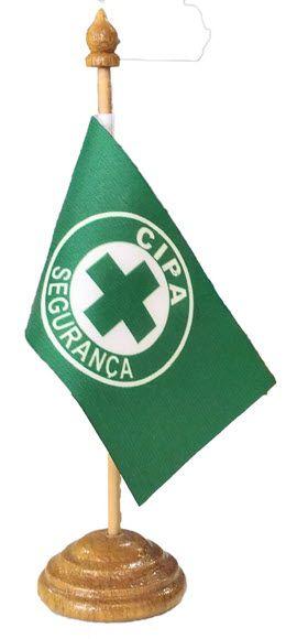 Bandeirinha de mesa, modelo CIPA  - CONEXÃO EPI´S E UNIFORMES PROFISSIONAIS