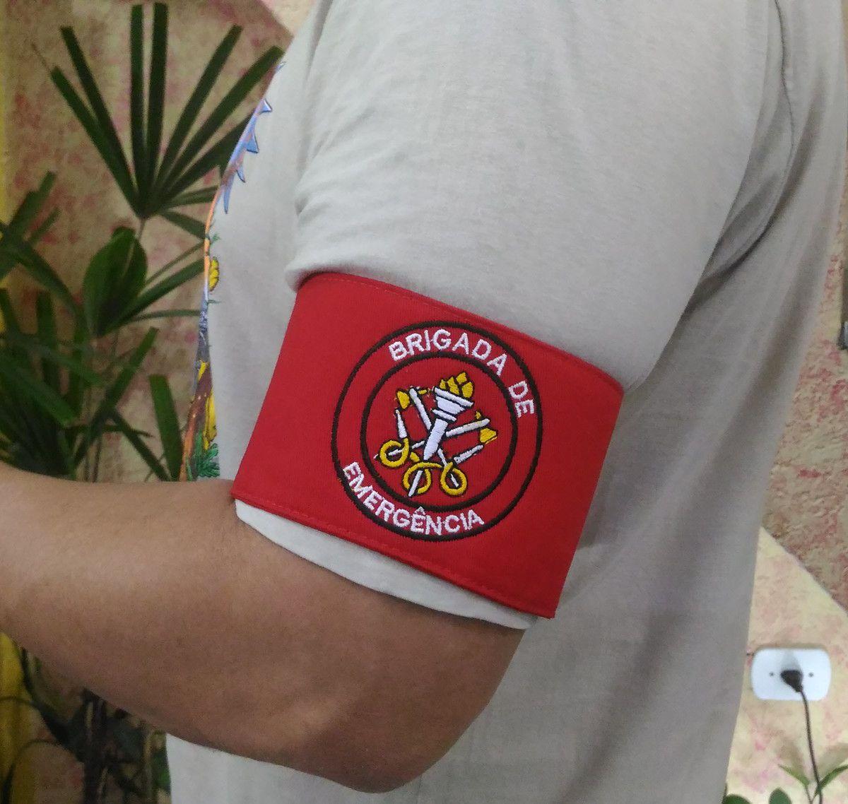 Braçadeira de Brim, modelo Brigada de Emergência, bordada em cores  - CONEXÃO EPI´S E UNIFORMES PROFISSIONAIS