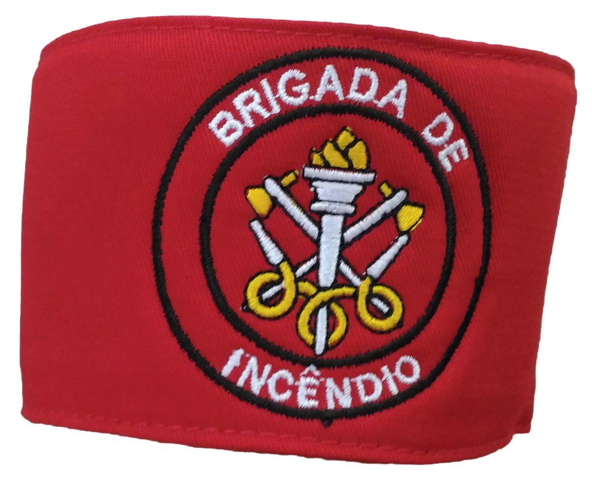 Braçadeira de Brim, modelo Brigada de Incêndio, bordada em cores  - CONEXÃO EPI´S E UNIFORMES PROFISSIONAIS