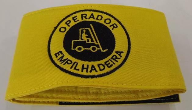 Braçadeira de brim, modelo Operador de Empilhadeira, bordada  - CONEXÃO EPI´S E UNIFORMES PROFISSIONAIS