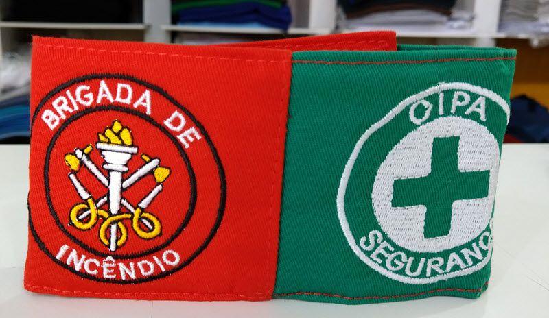Braçadeira dupla (Brigada / CIPA) - Bordada  - CONEXÃO EPI´S E UNIFORMES PROFISSIONAIS