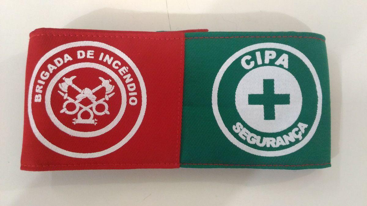 Braçadeira dupla, Brigada/ CIPA, estampada  - CONEXÃO EPI´S E UNIFORMES PROFISSIONAIS