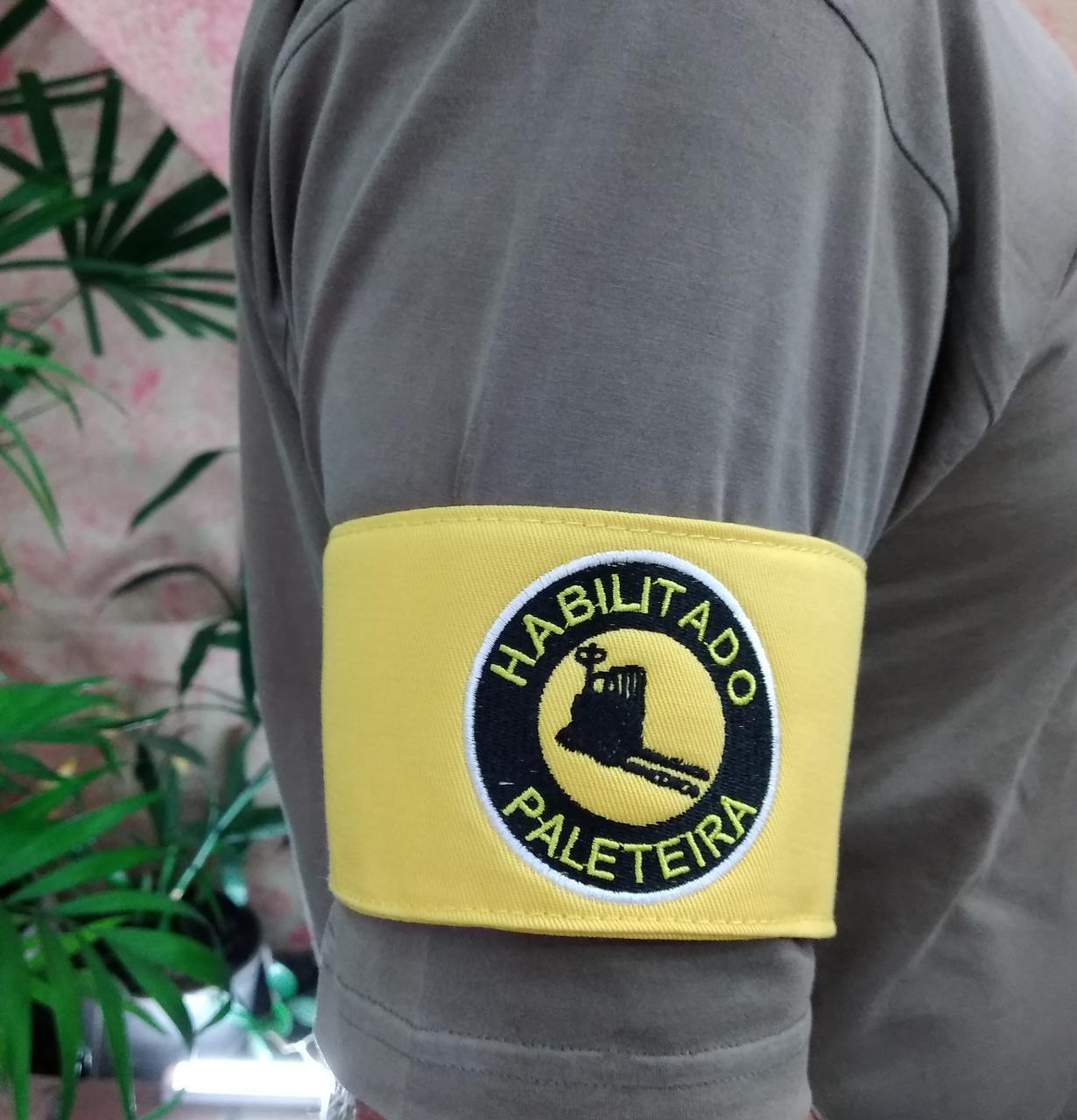 Braçadeira Habilitado Paleteira - Bordada  - CONEXÃO EPI´S E UNIFORMES PROFISSIONAIS