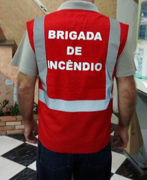Colete de brim, modelo Brigada de Incêndio, com refletivo  - CONEXÃO EPI´S E UNIFORMES PROFISSIONAIS