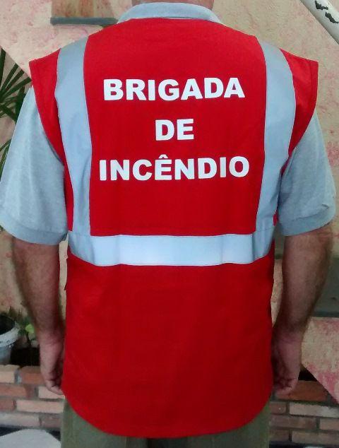 Colete de brim modelo brigada de incêndio, personalizado  - CONEXÃO EPI´S E UNIFORMES PROFISSIONAIS