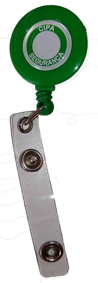 Porta crachá retrátil (roller clip), CIPA Segurança  - CONEXÃO EPI´S E UNIFORMES PROFISSIONAIS