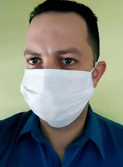 Máscara de proteção TNT, camada dupla, sanfonada, com elástico  - CONEXÃO EPI´S E UNIFORMES PROFISSIONAIS