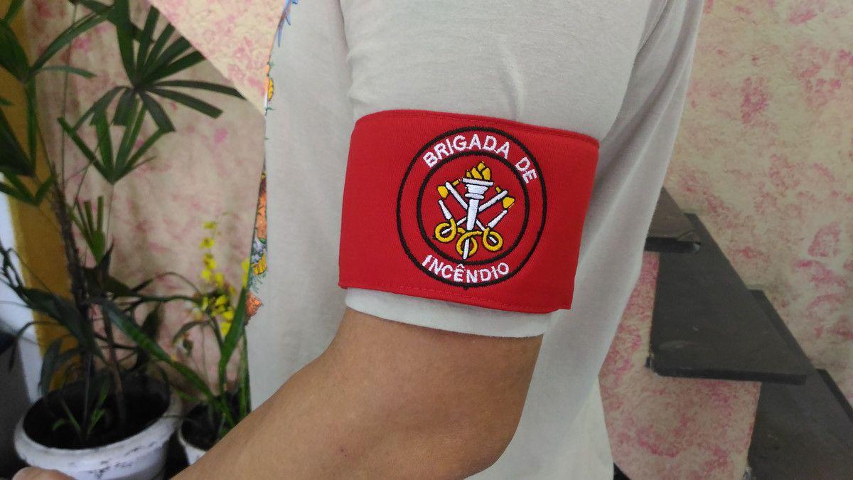 PACK 10 UNIDADES - Braçadeira Brigada, CIPA, Treinamento, Empilhadeira, Paleteira, bordada  - CONEXÃO EPI´S E UNIFORMES PROFISSIONAIS