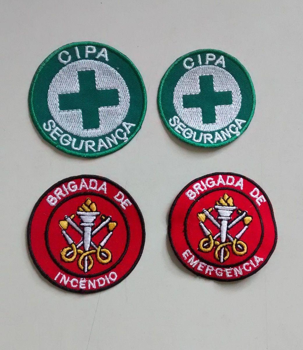 Patch bordado termocolante, Brigada de Incêndio ou CIPA, 7cm  - CONEXÃO EPI´S E UNIFORMES PROFISSIONAIS