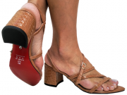 Sandália bf croco nude 5cm Cód.707
