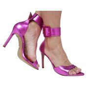 Sandália BF Metalizado pink 10cm Cód.656