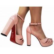 Sandalia meia pata vz rosa salto 11cm   Cód.: 871