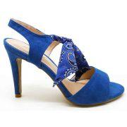 Sandália suede azul salto 9cm Cód.: 178