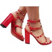 Sandália verniz vermelho 9cm Cód.1338