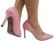 Scarpin napa rosa salto 9cm Cód.: 788