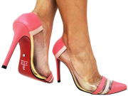 Scarpin np flamingo com vinil salto 11cm Cód.718