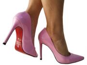 Scarpin verniz rosa salto 11cm   Cód.: 771