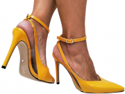 Scarpin vz amarelo salto 11cm Cód.689