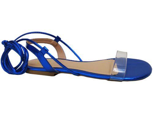 Rasteira metalizado azul Cód.735