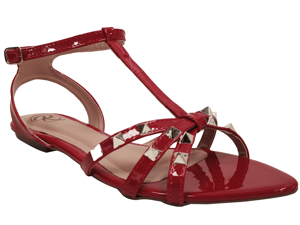 Rasteira verniz vermelho Cód.1190