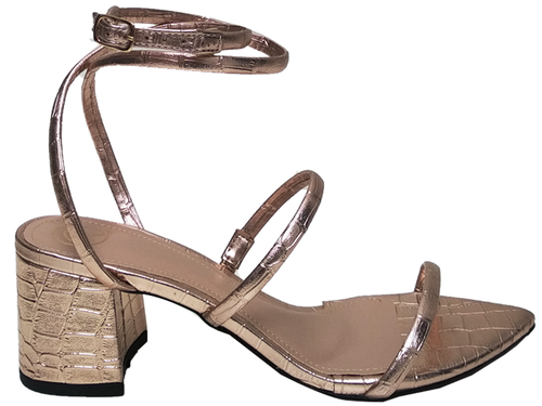 Sandália bf croco cobre 5cm Cód.691