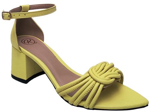 Sandália bf napa amarelo 5cm Cód.710