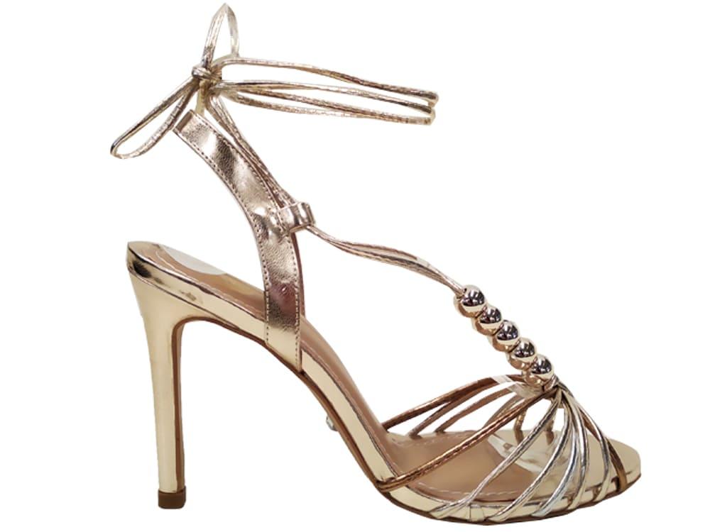 Sandália BR ouro cobre 10cm Cód.1048