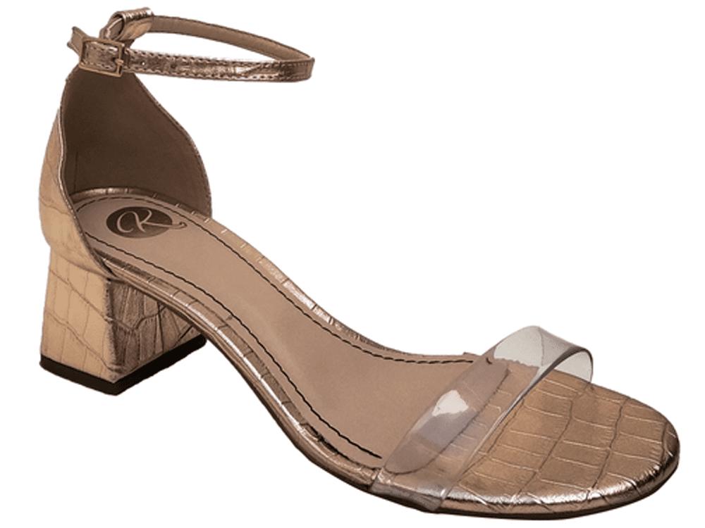 Sandália croco met. cobre cordão cobre 5cm Cód.719