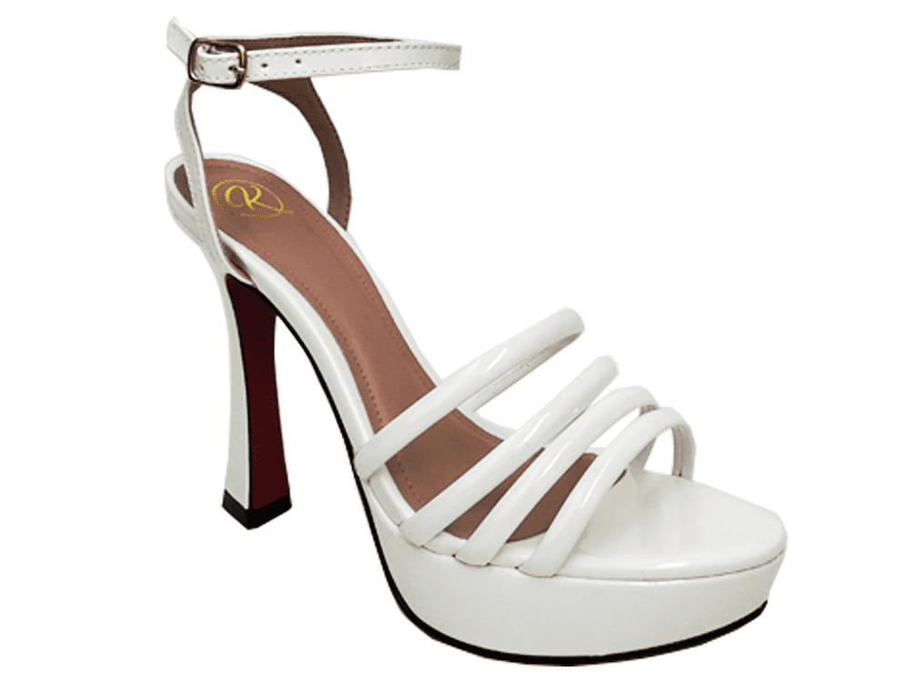Sandalia meia pata vz branco salto 11cm   Cód.: 876