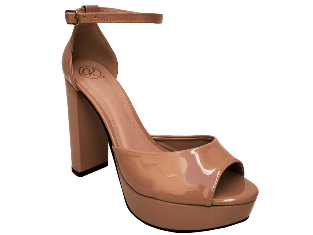 Sandalia meia pata vz nude salto 11cm   Cód.: 867